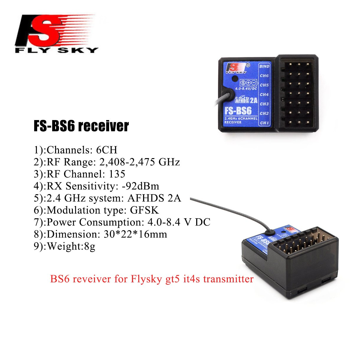 Flysky Receiver Wiring Electrical Diagrams Fs R9b Amazon Com Bs6 6ch Fail Safe For Gt5 It4s Gt3b