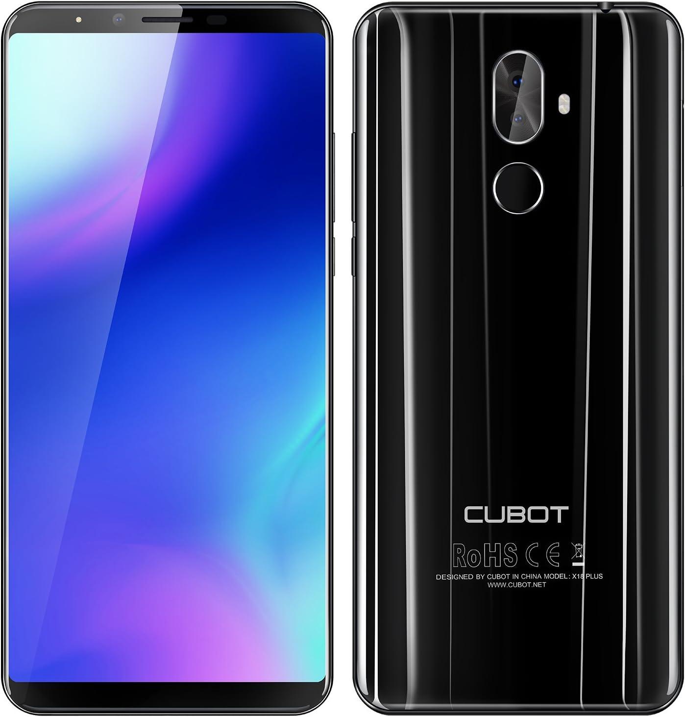 CUBOT X18 Plus - 5.99 Pulgadas FHD + (2160 x 1080) (proporción 18: 9) Android 8.0 4G teléfono Inteligente, Octa-Core 1.5GHz 4GB + 64GB, cámara Triple (20MP + 2MP + 13MP), batería 4000mAh: Cubot-Spain: Amazon.es: Electrónica