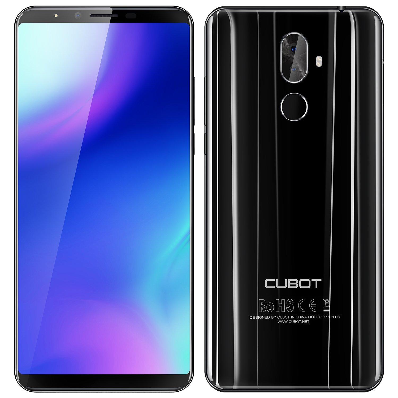 CUBOT X18 Plus - 5.99 Pulgadas FHD + (2160 x 1080) (proporción 18: 9) Android 8.0 4G teléfono Inteligente, Octa-Core 1.5GHz 4GB + 64GB, cámara Triple (20MP + 2MP + 13MP), batería 4000mAh - Negro