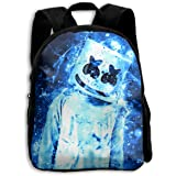 ETP6N5E3C Children Bookbag Marshmello Blue School Backpack Durable School Bookbag Student Backpack for Boys/Girls