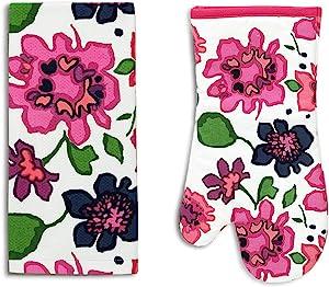 Kate Spade Floral Kitchen Towel & Oven Mitt Set, Multi-Colored