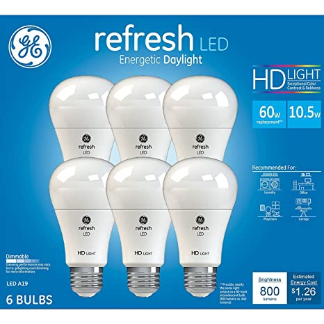 GE Refresh High Definition LED Light Bulb 10.5 Watt 5000K Energetic  Daylight 800 Lumens