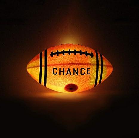 Chance Fuego - Balón de fútbol con luz LED de Goma, Color Naranja ...