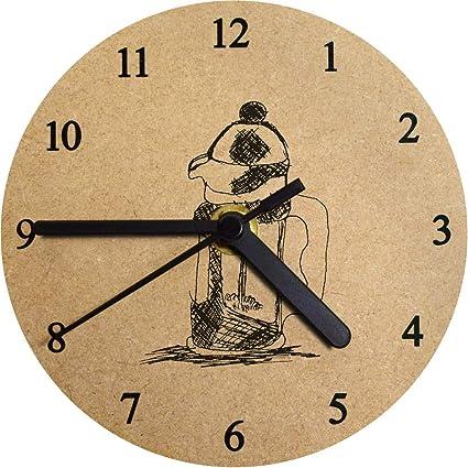 Azeeda 130mm Cafetera Reloj de Pared pequeño MDF (CK00006797 ...