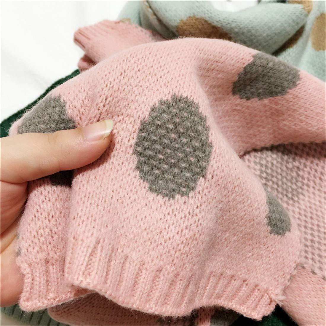 FamyFirst Kids Scarf Infant Warm Soft Dot Pattern Bandelette Neck Scarf
