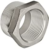 "Stainless Steel 304 Cast Pipe Fitting, Hex Bushing, Class 150, 1-1/4"" NPT Male X 1"" NPT Female,"