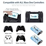 Snado Compatible with Xbox One Battery 4 Pack x