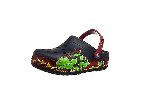 819919827fd9a3 Crocs Boys  CrocsLights Fire Dragon Clog Kids  Amazon.co.uk  Shoes ...