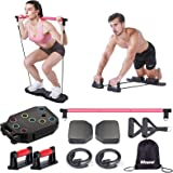 Megoal Portable Home Gym, Muscle Build Workout Equipment for Men and Women, Exercise Equipment with Resistance Bands, Abdomin