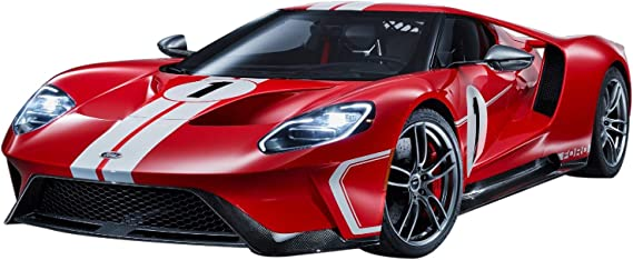 2018 Ford GT #1 Heritage Edition with Flatbed Truck Red with White Stripes Elite Transport Series 1//64 Diecast Model Cars by Maisto 15108-21 C