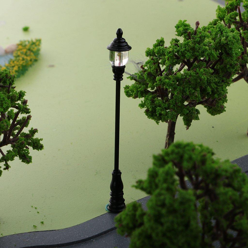 Model Building Baoblaze 10PCS Model Mini Street Lights Lighting