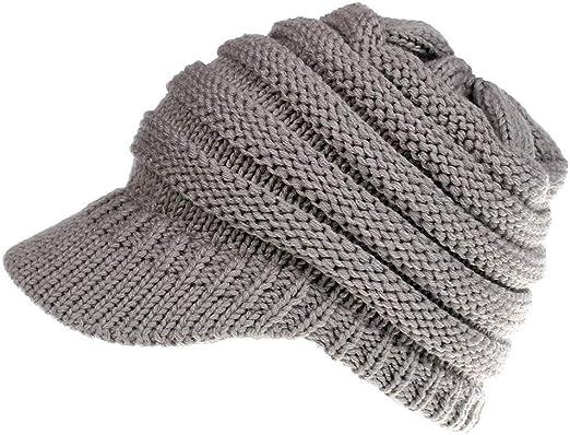 strickm Mujeres Baggy sombrero Invierno Lana tejer Crochet ...