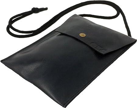 Bolsito para Documentos de Piel Noble colgado del Cuello para ...