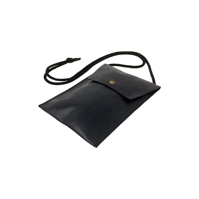 Sac à poitrine noble en cuir mince pour une sécurité maximale - OB8® Sacoche Discrète pour un transport sécurisé du Smartphone, du passeport et de l'argent OB8-17