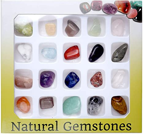 Gemstone, Howlite Crystal Tumbled - Stone Crystal Rock Collection