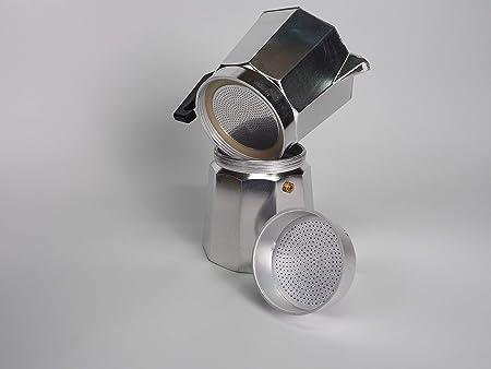 Sanfor 75016 Caja 50 embudo cafetera aluminio O.L. 12 tazas granel (10 paquetes de 5 unidades), PLATEADO: Amazon.es: Hogar