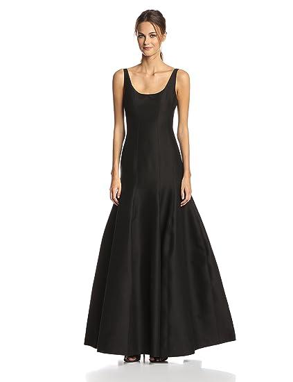 Halston Heritage Womens Jacquard Tulip Hem Evening Gown, Black, ...