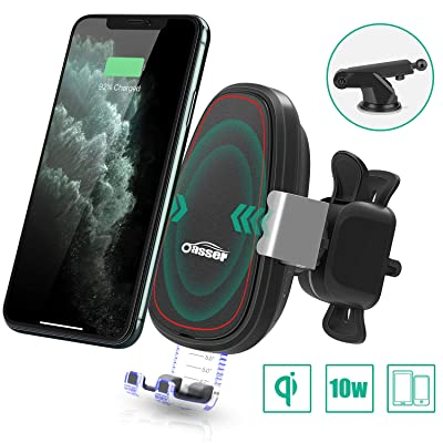 Oasser Wireless Car Charger Mount Auto Clamping 10W/7.5W Fast Charging Air Vent Dashboard Windshield Phone Holder for iPhone 11/11 Pro Max/Xs/Xs Max/XR/X/8/8P Samsung Galaxy S10/S10+/S9/S9+/S8/S8+: Home Audio & Theater