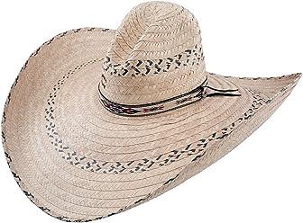 45712bf52c0ec Charlie 1 Horse Men s Mariposa Straw Cowboy Hat Natural One Size