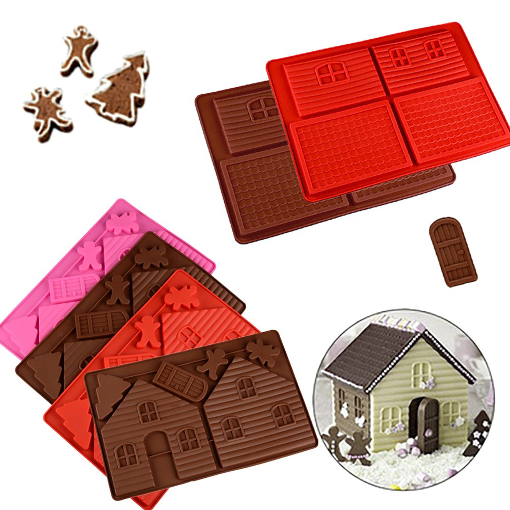 Taloyer Christmas Mini Gingerbread House Mold 3D Cake Cupcake Cookies Cutter Mould DIY Baking Decorating Tools (Random)) by Taloyer (Image #1)