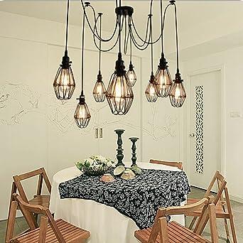 Vintage Ceiling Lamp SUN RUN Hanging Lighting Edison Multiple Adjustable DIY Spider Light