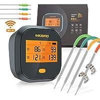 Inkbird WiFi Vleesthermometer BBQ, IBBQ-4T Magnetische Alarm BBQ Thermometer met 4 Probes, 2000mAh Oplaadbare…