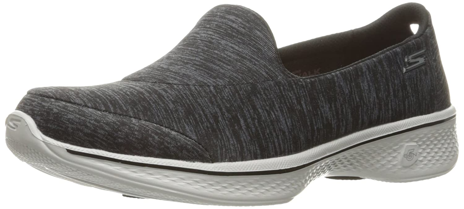 Skechers Performance Women's Go Walk 4 Achiever Walking Shoe B01IIZICBC 9 B(M) US|Black/Gray