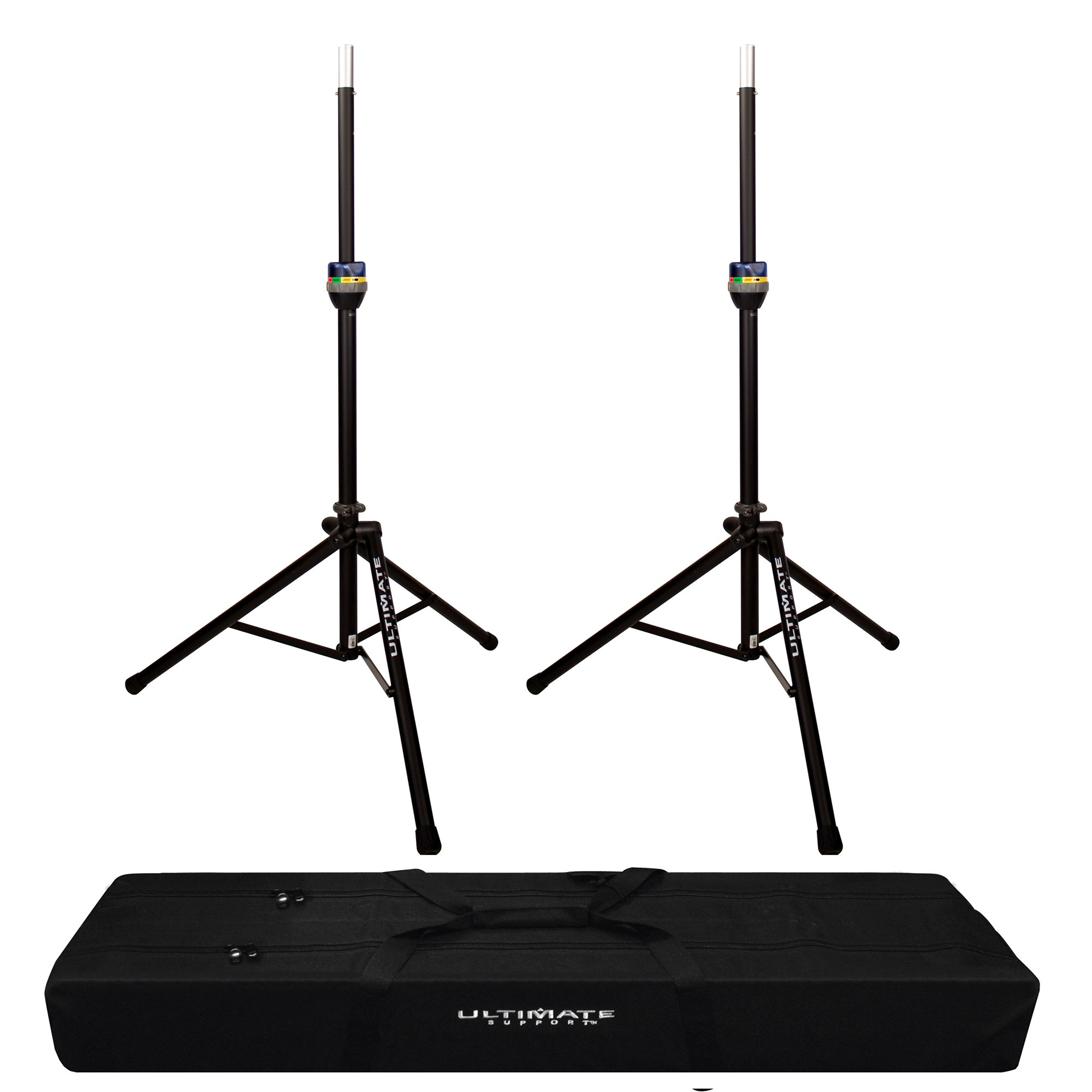 2x TS-90 TeleLock Speaker Stand with Padded Dual Tripod Tote Bag by FP Logistics, Ultimate Support (Image #1)
