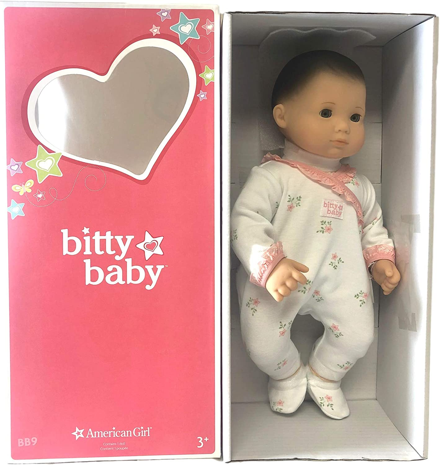 Amazon Com American Girl Bitty Baby Doll Light Skin Brown Hair
