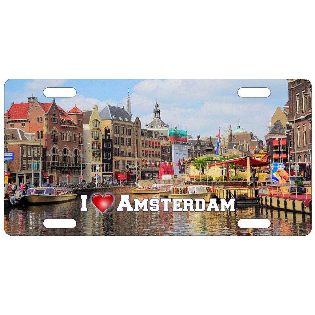 cadora US Targa I Love Amsterdam 298 X 152 mm
