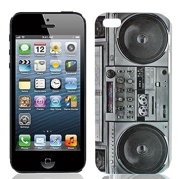 Radio de reproductor de casetes gris IMD carcasa rígida para iPhone 5 G: Amazon.es: Electrónica