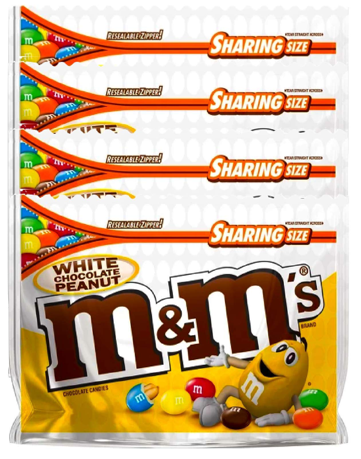 NEW M&M's White Chocolate Peanut Candies Limited edition- 9.6oz (4) by M&M'sCandy