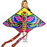 Hengda Kite So Beautiful Loving Heart Butterfly Kite Single Line Kite Incudes 30m String and Handle