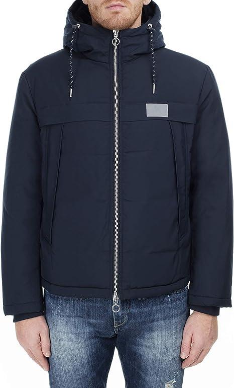 Armani Exchange Mens Reflective Logo Jacket - Deep Navy - XL - Blue: Amazon.es: Ropa y accesorios
