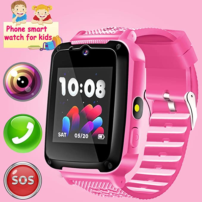 3191503ed65 Kids Phone Smart Watch - Kids Smartwatch for Girls Boys with 2 Way Call  Camera SOS
