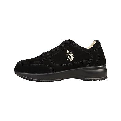 U.S. Polo - Zapatillas para Mujer Negro Negro 6 UK: Amazon.es ...