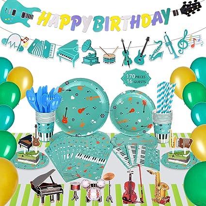 Amazon.com: Decoración para fiestas de música para niños ...