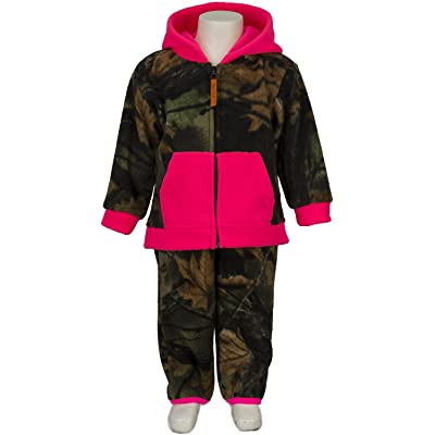 TrailCrest Unisex Toddler Two-Piece Camouflage Jacket and Pants Fleece Set (2T)