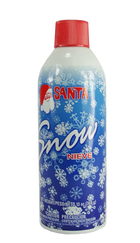 Artificial White Santa Snow Spray for Christmas Decorations and Windows - 13 oz.