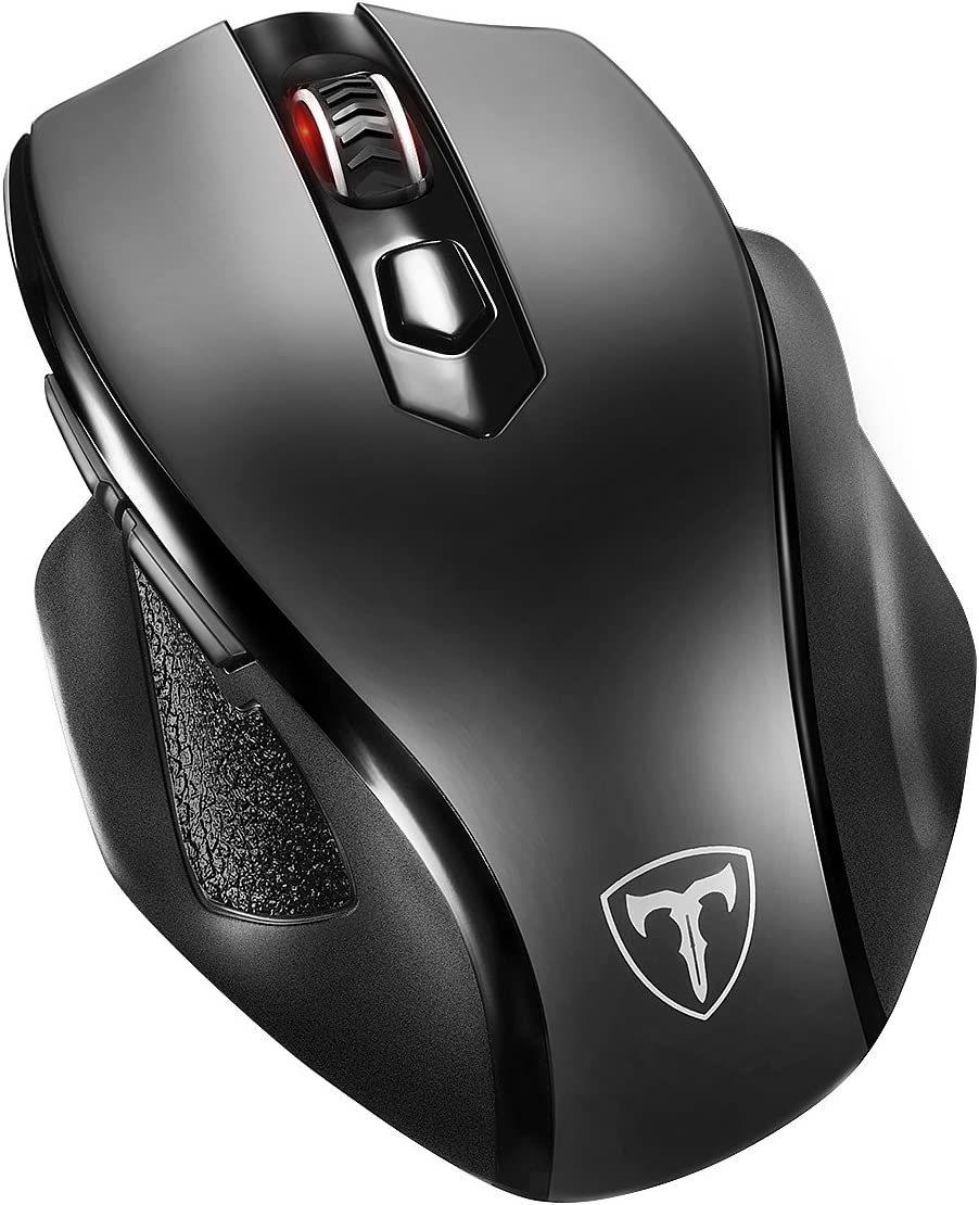 VicTsing Full Size Wireless Mouse with Nano USB Receiver, 5 Adjustable CPI Levels, 6 Buttons for Notebook, PC, Laptop, Computer, MacBook-Black