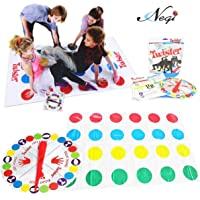 Negi 2 in 1 Twister Game with Finger Twister (Included) and Spin Wheel The Classic Game with 2 More Moves__ Player 2+ (2 in 1 Twister)