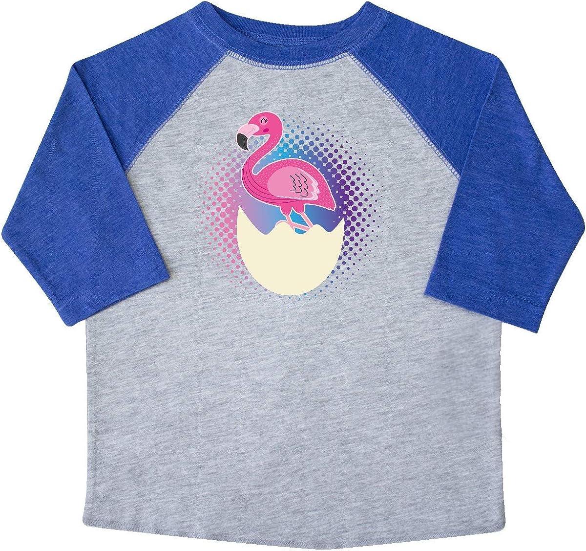 inktastic Easter Gift for Girls Flamingo Egg Hatching Toddler T-Shirt