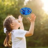 BlueFire Mini Drone for Kids Hand-Controlled Flying Ball Portable Pocket Quadcopter with 360°Rotating and Shinning LED Lights UFO Toy Intelligence Sensor Aircraft Flying Toy for Boys Girls and Kids Gifts(Blue)