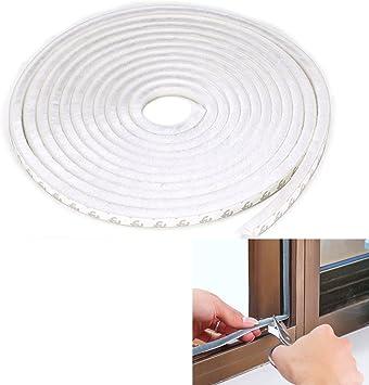 Cepillo Pelo Adhesivo resistente al viento a prueba de intemperie para desmontar ventana puerta sellado tira de cepillo 5 m de longitud, blanco: Amazon.es: Bricolaje y herramientas