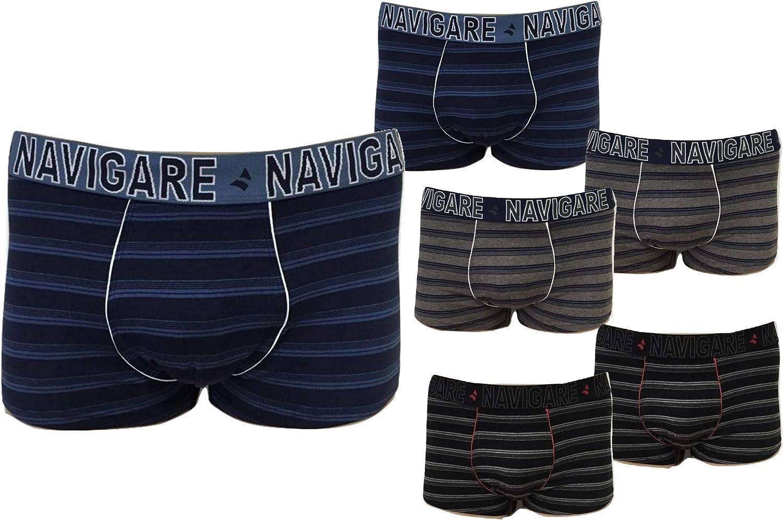 6//XL Colori Assortiti NAVIGARE Underwear Moda Intimo Mutande Boxer Uomo Cotone Elasticizzato 6 Pezzi Nuova Collezione