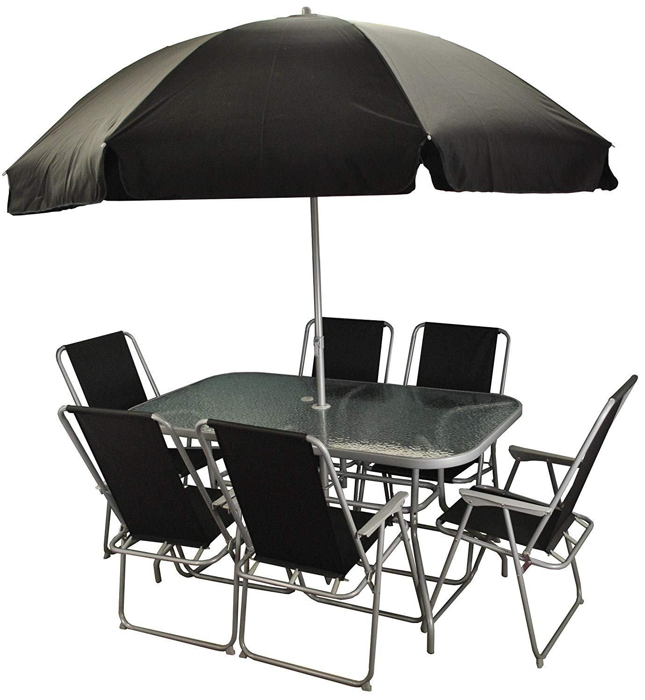Selections 8 Piece Metal Garden Patio Furniture Set With Folding Chairs Buy Online In Faroe Islands At Faroe Desertcart Com Productid 71262696