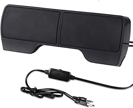 USB Laptop Speaker Clip-On Soundbar by GOgroove Red Includes Clip /& Desk Stand Portable Compact Travel Stereo Speaker Bar Design Uses Single USB Cord for Audio Input /& Power SonaVERSE USB