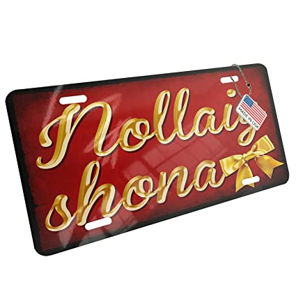 neonblond metal license plate merry christmas in irish gaelic from ireland - Merry Christmas In Gaelic