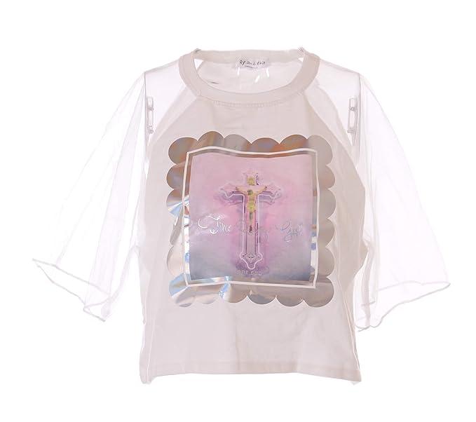 Kawaii-Story - Camiseta - Redondo - para Mujer Blanco Blanco Talla única: Amazon.es: Ropa y accesorios