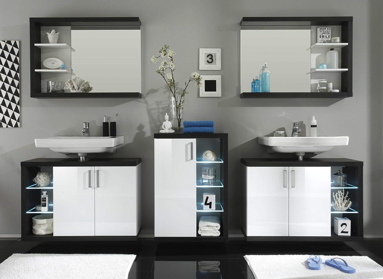 trendteam Cuarto de baño Camerino con espejo Espejo Sunrise, 90 x ...